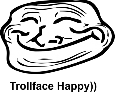 Принт Толстовка Trollface happy - FatLine