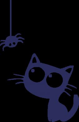 Принт Женская Котик и паук - FatLine