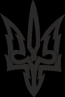 Принт Жіноча футболка Acute coat of arms of Ukraine, Фото № 1 - FatLine