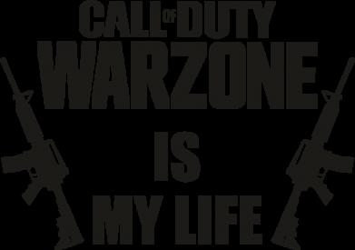 Принт Женская футболка Call of duty warzone is my life M4A1, Фото № 1 - FatLine