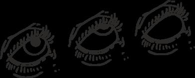 Принт Женская футболка Rolling eyes in stages, Фото № 1 - FatLine