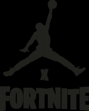 Принт Женская футболка JORDAN FORTNITE, Фото № 1 - FatLine