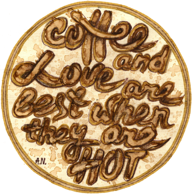 Принт Кепка Coffee and love are best when they are hot, Фото № 1 - FatLine