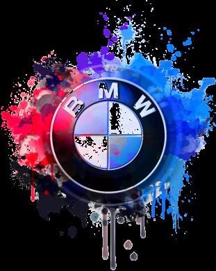 Принт Детский бодик BMW logo art 2 - FatLine