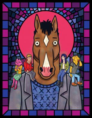 Принт Женская футболка Bojack Horseman icon, Фото № 1 - FatLine