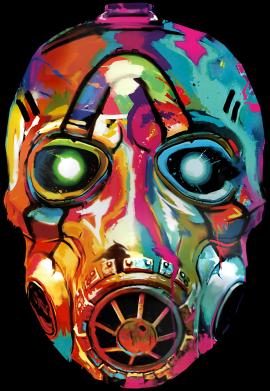 Принт Женская футболка Borderlands mask in paint, Фото № 1 - FatLine