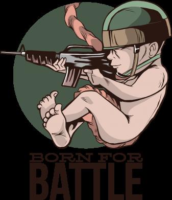 Принт Женская футболка Born For Battle, Фото № 1 - FatLine