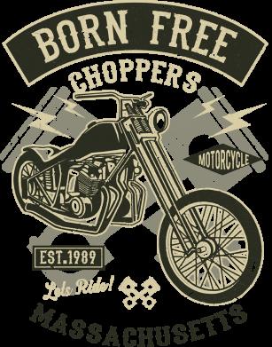 Принт Жіноча футболка Born Free Choppers, Фото № 1 - FatLine