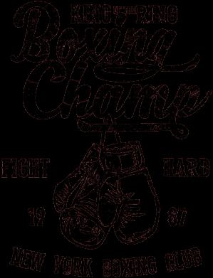 Принт Жіноча футболка Boxing Champ, Фото № 1 - FatLine