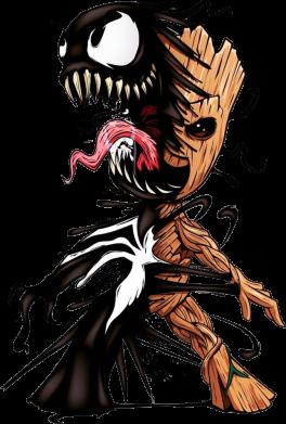 Принт Жіноча футболка Groot and Venom, Фото № 1 - FatLine