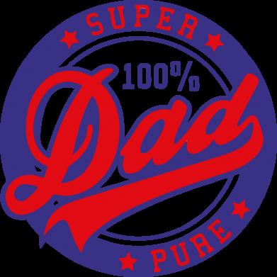 Принт Фартук Super Dad Pure 100% - FatLine
