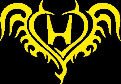 Принт Женская футболка с V-образным вырезом Honda tattoo - FatLine