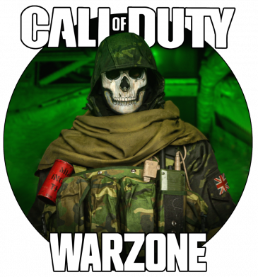 Принт Чоловіча футболка Call of duty Warzone ghost green background, Фото № 1 - FatLine