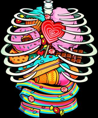 Принт Жіноча футболка Сandy inside the skeleton, Фото № 1 - FatLine