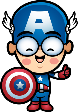 Принт Мужские шорты Маленький Капитан Америка - FatLine