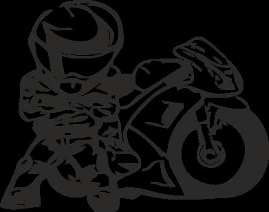 Принт Фартук Мотоциклист - FatLine