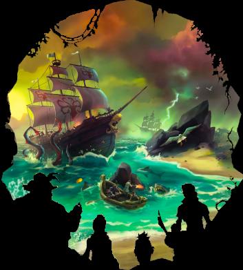 Принт Жіноча футболка Skull of a sea of thieves, Фото № 1 - FatLine