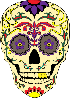 Принт Жіноча футболка Sugar Skull Vector, Фото № 1 - FatLine