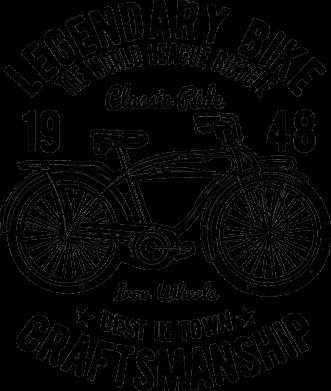 Принт Жіноча футболка Classic Bicycle, Фото № 1 - FatLine