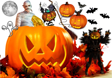 Принт Кружка 320ml Halloween Clipart - FatLine