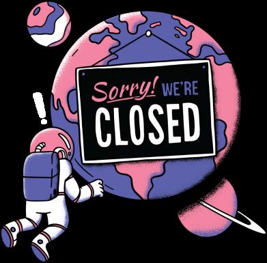 Принт Чоловіча футболка Sorry we're closed, Фото № 1 - FatLine