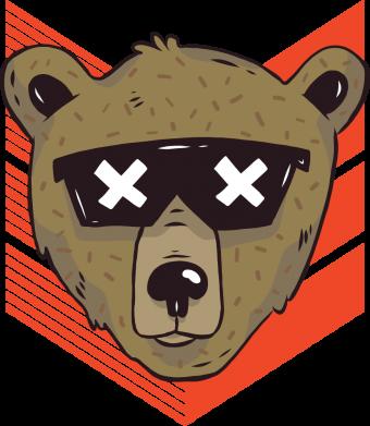 Принт Женская футболка Bear with glasses, Фото № 1 - FatLine