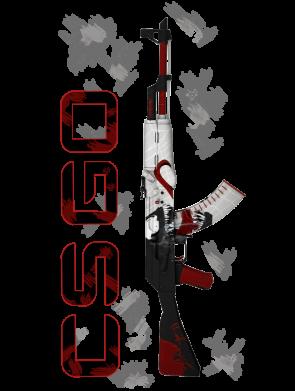 Принт Мужская толстовка CSGO and gun, Фото № 1 - FatLine