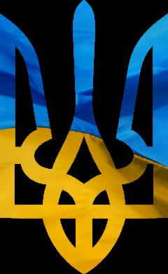 Принт Фартук Герб на фоні прапора - FatLine