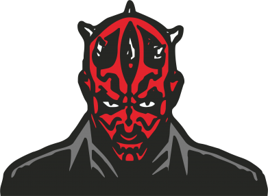 Принт Футболка Поло Darth Maul - FatLine