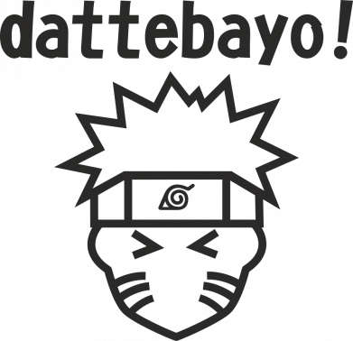 Принт Кружка 320ml Naruto dattebayo!, Фото № 1 - FatLine