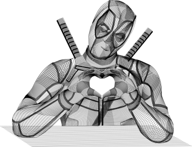 Принт Жіноча футболка Deadpool love 3D model, Фото № 1 - FatLine