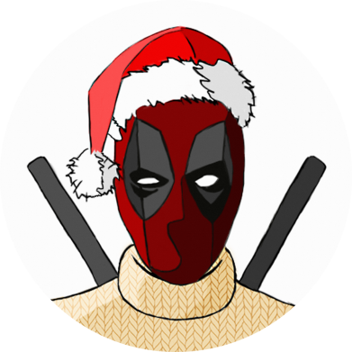 Принт Кепка Deadpool in New Year's hat, Фото № 1 - FatLine