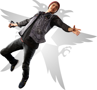 Принт Жіноча футболка Infamous: Second Son Delsin Row Karmic titles fifth, Фото № 1 - FatLine