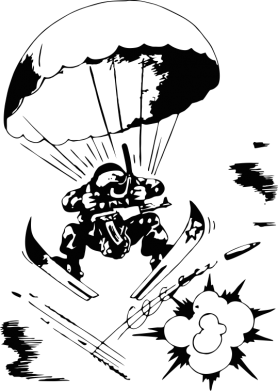 Принт Детская футболка Десантник - FatLine