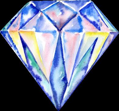 Принт Кепка Watercolor diamond, Фото № 1 - FatLine