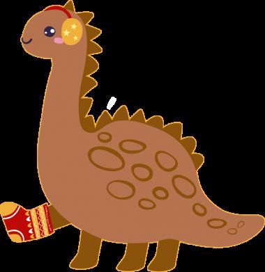 Принт Женская футболка Dinosaur in sock, Фото № 1 - FatLine