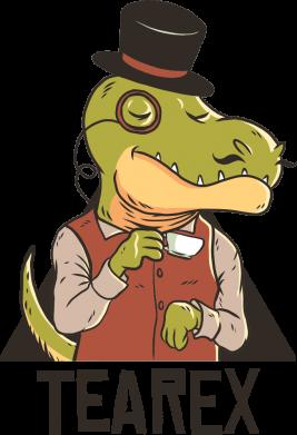 Принт Чоловіча футболка Dinosaur with tea, Фото № 1 - FatLine