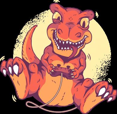 Принт Женская футболка Playing dinosaur, Фото № 1 - FatLine