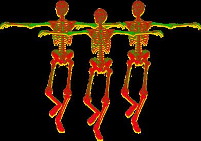 Принт Женская футболка Dancing skeletons, Фото № 1 - FatLine