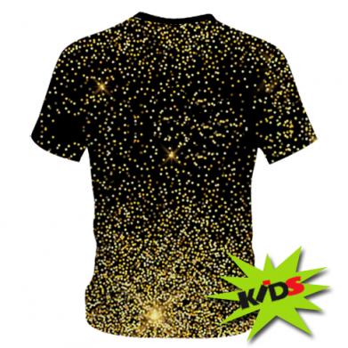 Принт Детская 3D футболка Marshmello Dj and gold - FatLine