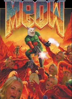 Принт Женская футболка Meow Doom, Фото № 1 - FatLine