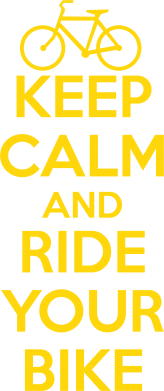 Принт Футболка Поло KEEP CALM AND RIDE YOUR BIKE - FatLine