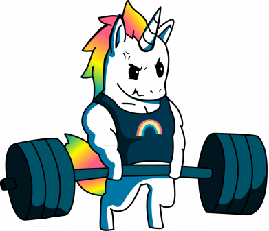 Принт Жіноча футболка The unicorn is rocking, Фото № 1 - FatLine