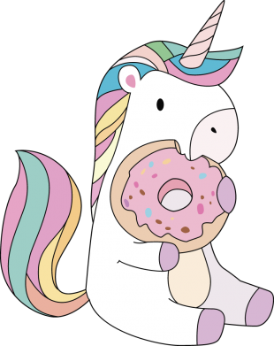 Принт Кепка Unicorn and cake, Фото № 1 - FatLine