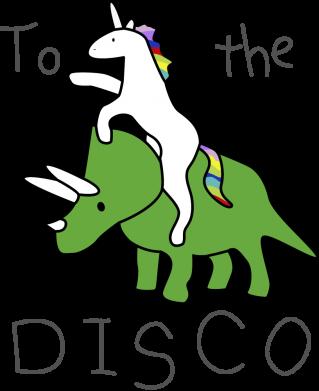 Принт Жіноча футболка To the disco, Фото № 1 - FatLine