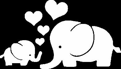 Принт Кепка Mom and baby elephants, Фото № 1 - FatLine