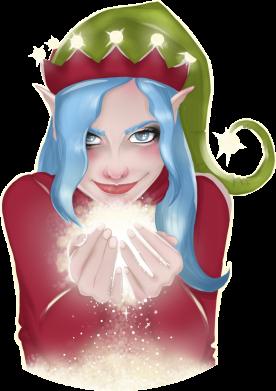 Принт Женская футболка Elf girl, Фото № 1 - FatLine