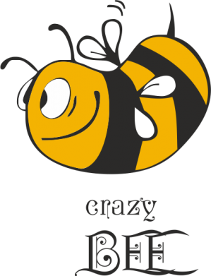 Принт Кружка 320ml Сумасшедшая пчелка - FatLine