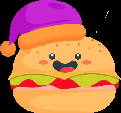 Принт Женская футболка Happy hamburger, Фото № 1 - FatLine