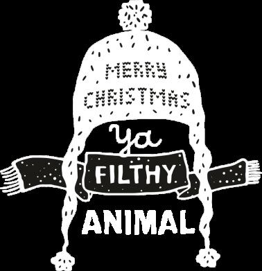 Принт Жіноча футболка Merry christmas filthy ya animal, Фото № 1 - FatLine